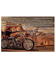Motor And Horse Ride While On 36x24 Poster front