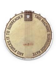 Banjo This Machine Surrounds Hate Circle ornament - single (porcelain) front