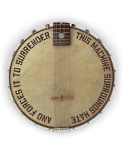 Banjo This Machine Surrounds Hate Circle ornament - single (wood) thumbnail
