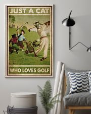 Just A Cat Loves Golf  24x36 Poster lifestyle-poster-1