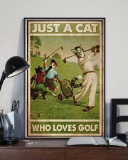 Just A Cat Loves Golf  24x36 Poster lifestyle-poster-2