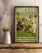 Just A Cat Loves Golf  24x36 Poster lifestyle-poster-3