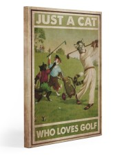 Just A Cat Loves Golf  20x30 Gallery Wrapped Canvas Prints thumbnail
