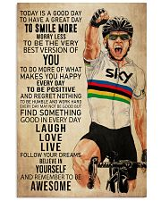 Cycling Today Is A Good Day 24x36 Poster front