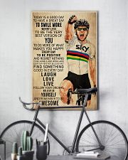 Cycling Today Is A Good Day 24x36 Poster lifestyle-poster-7