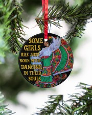 Mexican Girl Dancing Some Girl Circle ornament - single (porcelain) aos-circle-ornament-single-porcelain-lifestyles-07