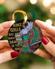 Mexican Girl Dancing Some Girl Circle ornament - single (porcelain) aos-circle-ornament-single-porcelain-lifestyles-08