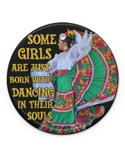 Mexican Girl Dancing Some Girl Circle ornament - single (porcelain) front