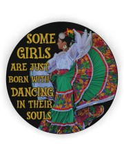 Mexican Girl Dancing Some Girl Circle Ornament (Wood tile