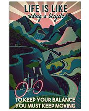 Girl Cycling Life Is Like Riding A Bicycle 24x36 Poster front