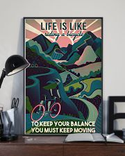 Girl Cycling Life Is Like Riding A Bicycle 24x36 Poster lifestyle-poster-2