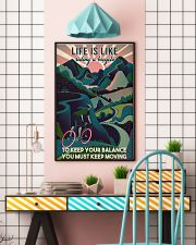 Girl Cycling Life Is Like Riding A Bicycle 24x36 Poster lifestyle-poster-6