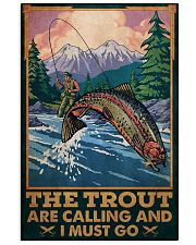 Fishing The Trout Are Calling Vertical Poster tile