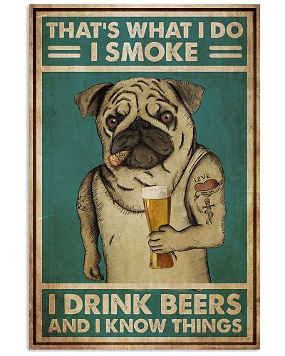 Pug Drinking