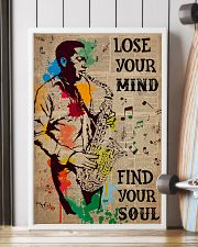 Saxophone Man Lose Your Mind Find Your Soul  24x36 Poster lifestyle-poster-4