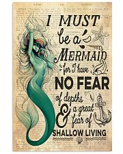 Mermaid No Fear 24x36 Poster front
