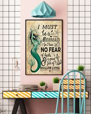 Mermaid No Fear 24x36 Poster lifestyle-poster-6