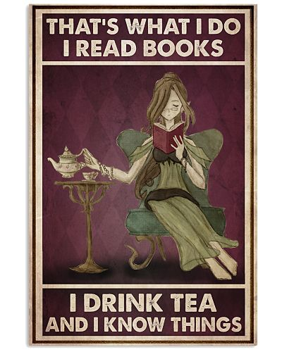 Girl Read Books Drink Tea Know Things