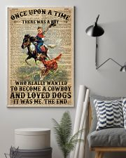 A Little Cowboy Loves Dogs Dictionary 24x36 Poster lifestyle-poster-1