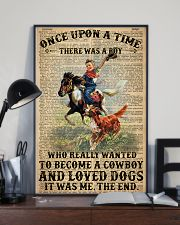 A Little Cowboy Loves Dogs Dictionary 24x36 Poster lifestyle-poster-2