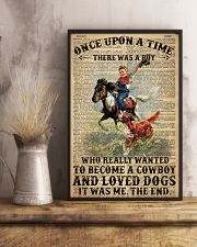A Little Cowboy Loves Dogs Dictionary 24x36 Poster lifestyle-poster-3