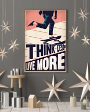 Skateboard Think Less Live More 24x36 Poster lifestyle-holiday-poster-1