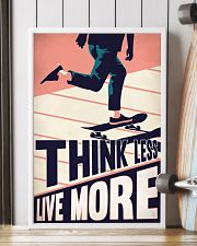 Skateboard Think Less Live More 24x36 Poster lifestyle-poster-4