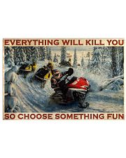 Snowmobile Choose Something Fun  36x24 Poster front
