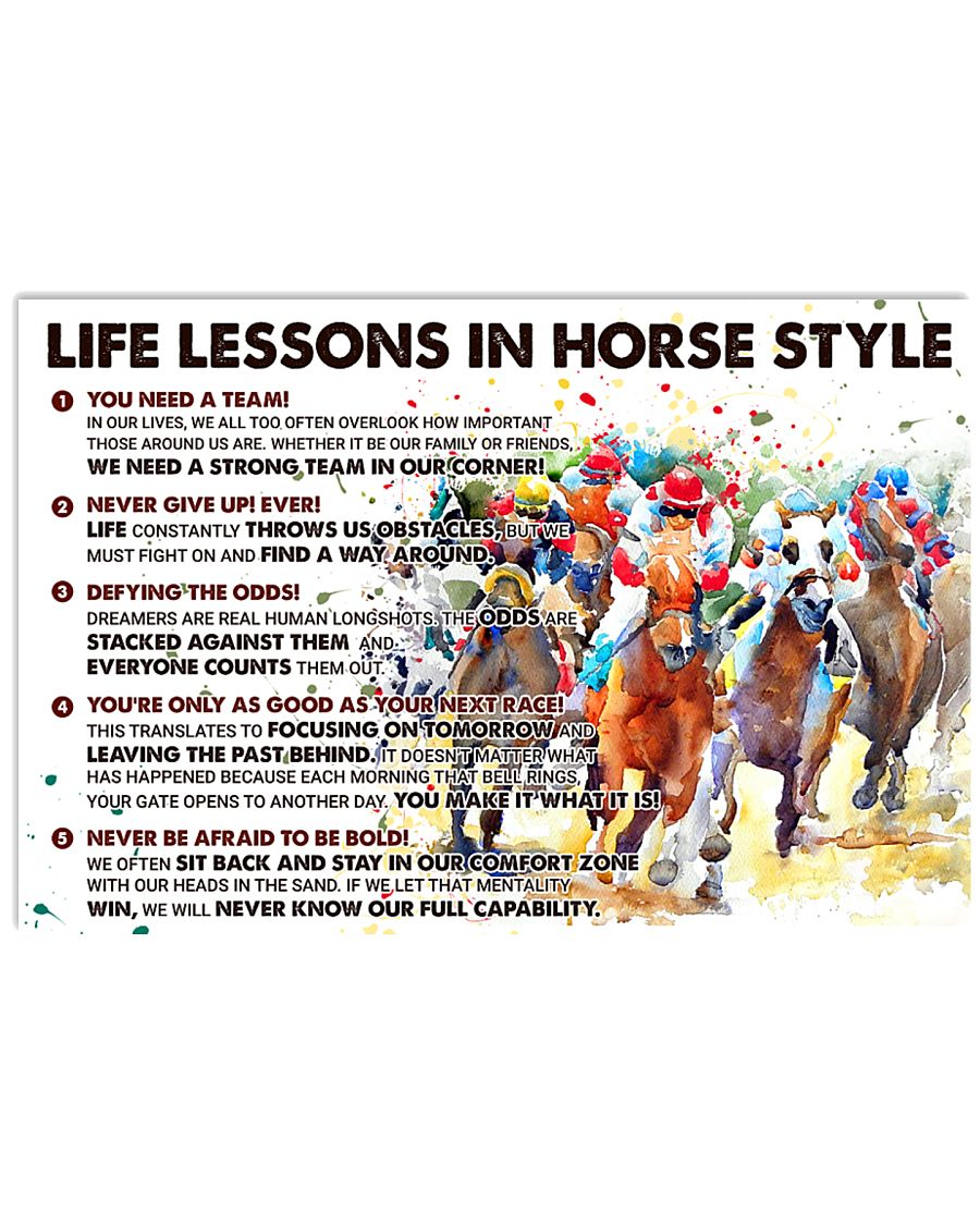 Life Lessons In Horse Style 36x24 Poster