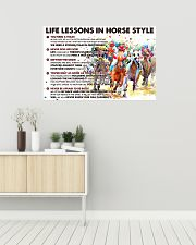 Life Lessons In Horse Style 36x24 Poster poster-landscape-36x24-lifestyle-01