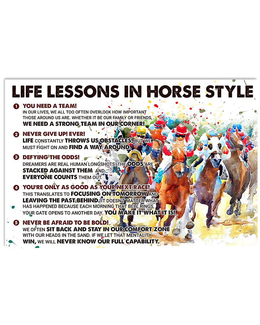 Life Lessons In Horse Style 24x16 Poster