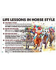 Life Lessons In Horse Style 24x16 Poster front