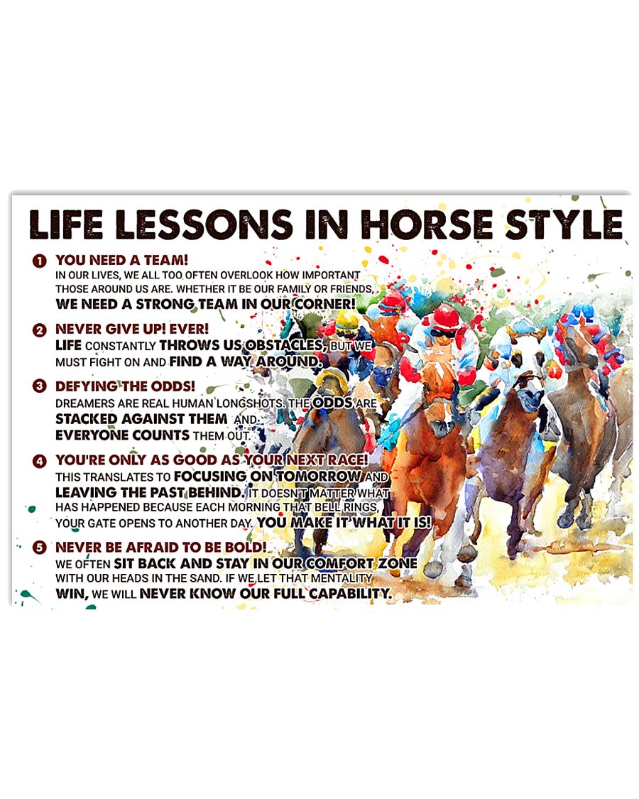 Life Lessons In Horse Style 17x11 Poster