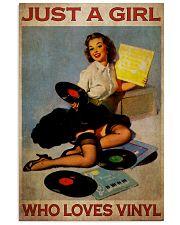 Girl Loves Vinyl 2 24x36 Poster front