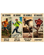 Running Be Strong  36x24 Poster front
