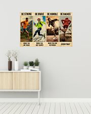 Running Be Strong  36x24 Poster poster-landscape-36x24-lifestyle-01