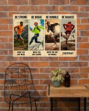 Running Be Strong  36x24 Poster poster-landscape-36x24-lifestyle-20