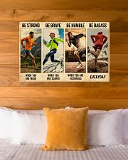 Running Be Strong  36x24 Poster poster-landscape-36x24-lifestyle-23