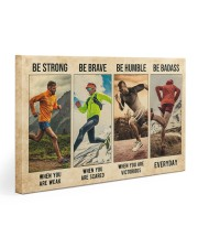 Running Be Strong  Gallery Wrapped Canvas Prints tile