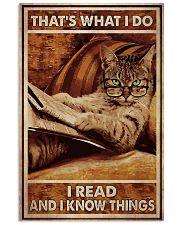 Cat Read Know Things 24x36 Poster front