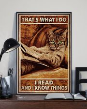 Cat Read Know Things 24x36 Poster lifestyle-poster-2