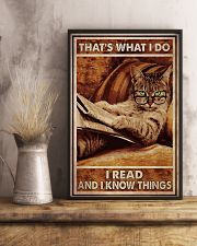 Cat Read Know Things 24x36 Poster lifestyle-poster-3