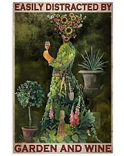 Easily Distracted By Garden And Wine 24x36 Poster front