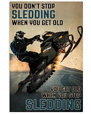 Sledding When You Get Old 24x36 Poster front