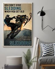 Sledding When You Get Old 24x36 Poster lifestyle-poster-1