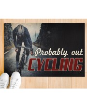 """Probably Out Cycling Doormat 22.5"""" x 15""""  aos-doormat-22-5x15-lifestyle-front-03"""