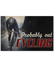 """Probably Out Cycling Doormat 22.5"""" x 15""""  front"""