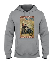 Vintage Motorcycle Couple And They Lived Hooded Sweatshirt tile
