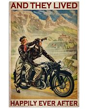 Vintage Motorcycle Couple And They Lived 24x36 Poster front