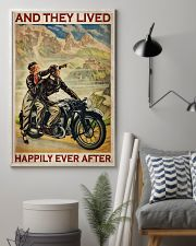 Vintage Motorcycle Couple And They Lived 24x36 Poster lifestyle-poster-1